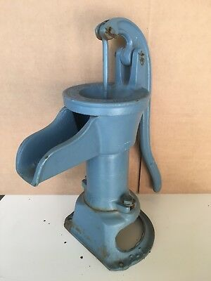 "Old Hand Cast Iron Pump Red Jacket Mfg / Davenport IA  1 1/2"" threaded inlet"