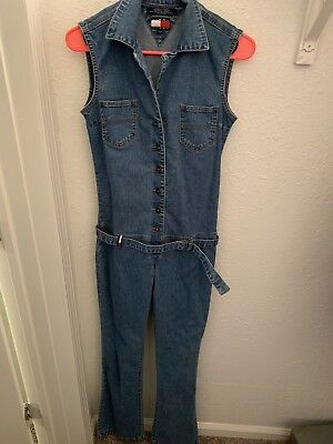 ffa1b06d414b TOMMY HILFIGER DENIM Jumpsuit One Piece Sz Large Low Waist ...
