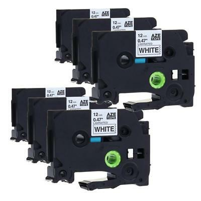 TZ-231 TZe-231 P-touch Label Tape Compatible for Brother Laminated 12 mm 6 pk