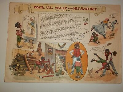"1901 PORE LIL MOSE ""And His Hatchet""LETTER To MAMMY R.F.Outcault ORIGINAL Comic"