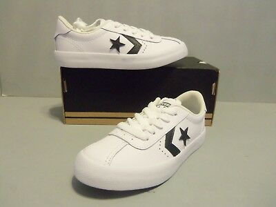 f1680f602680 Converse Breakpoint Ox White Black Men Leather Low-Top Lace-up Sneakers  Trainers.