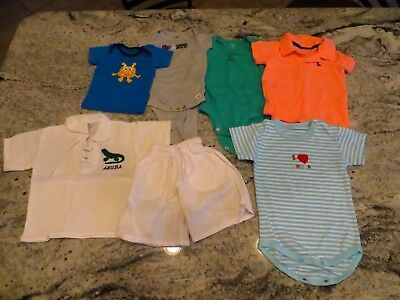 Baby Boy Beach Polo Clothing Lot / Bundle (Gerber Carters & *Love Aruba*): 6-9M