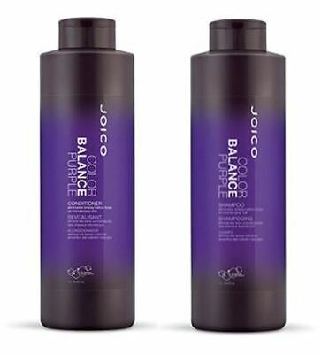 JOICO Color Balance Purple Shampoo and Conditioner Liter Duo