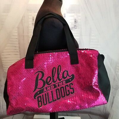 a98873b34fd6 JUSTICE BOOK BAG bookbag pink sequin bling backpack school gym girl dance  bella -  19.75