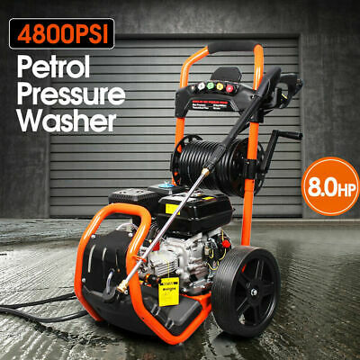 NEW Cleaner 4800 PSI 8HP High Pressure Washer Petrol Water Pump Hose Gurney 20 M