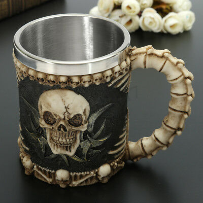 Skull & Bones Fiendish 3D Tankard Mug Coffee Beer Pirate Gothic Drinks Water Cup