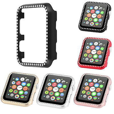 Bling Aluminum Metal Cover For iWatch Series 5 4 3 2 1 Apple Watch Case Shell