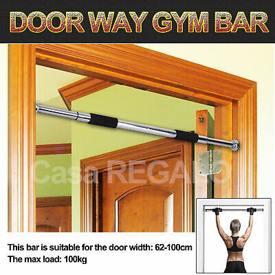 GYM DOORWAY PORTABLE CHIN UP BAR CHINUP PULLUP Home Workout Fitness Abs Exercise
