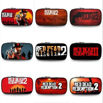 RDR Red Dead Redemption 2 Pencil Case Pen Makeup Stationery Bags School Supplies