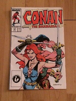 Conan The Barbarian Comic Book #197 Red Sonja Appearance (Marvel, 1987)