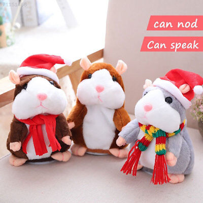 Talking Hamster Mouse Pet Plush Electronic Toy Speak Repeat Kids Children Toys