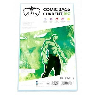 Ultimate Guard BIG Current Size Comic Bags Sleeves Protectors 100ct 178 x 268mm