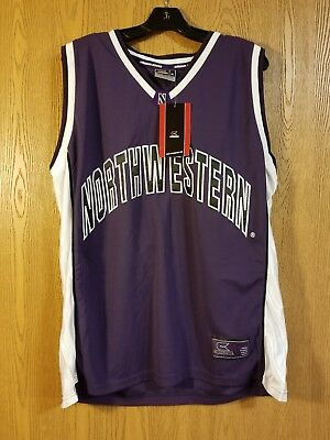 best authentic 11836 2a946 NORTHWESTERN WILDCATS COLOSSEUM #30 Sewn Purple Basketball Jersey Adult XL  NWT
