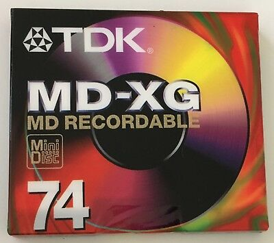 TDK MD-XG 74 Recordable Mini Disc Sealed