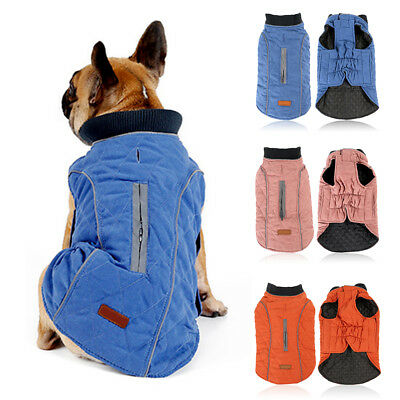 Dog Jacket Rain Winter Warm Coat Clothes Suit Vest Pet Puppy Small Medium Large