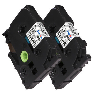 Tze-121 Black on Clear Label Tape Compatible for Brother P-Touch 9mm Label Maker