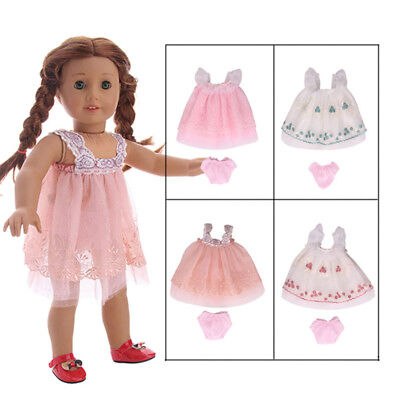 1pc Doll Clothes Lace Dress Outfits For 18inch American Girl Our Generation Accs