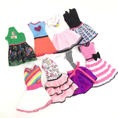 US 10 Pcs Handmade Dress Clothes Party Mini Gown Stylish Clothes For Barbie Doll