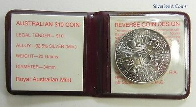 1982 COMMONWEALTH GAMES Silver Unc Coin