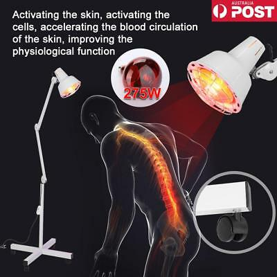 220V 275W Infrared Lamp Floor Stand Heating Therapy Beauty Muscle Pain Relief AU