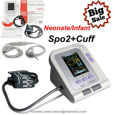 Neonate/Infant Blood Pressure Monitor CONTEC08A+software SPO2 NIBP cuff  NEW hot