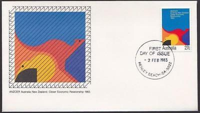 Australia 1983 First Day Cover FDC - ANZCER Australia New Zealand Closer Economy