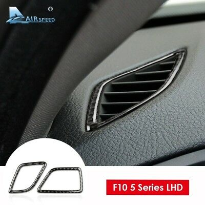 For BMW F10 5 Series 2011-2017 LHD Carbon Fiber Interior Air Outlet Cover Trim
