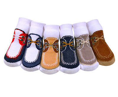 *Adorable Jazzy Toes Socks-DockSiders Look-Gift Set of 6 Size 12-24 Months