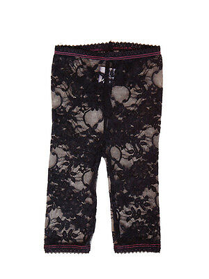 LACY LEGGINGS – BLACK  by Baby Bella Maya Size 12-18 Months