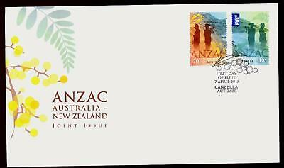 Australia 2015 First Day Cover FDC - ANZAC: Australia-New Zealand Joint Issue