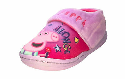 Girls Peppa Pig Pink Slippers - Kids Character Slippers