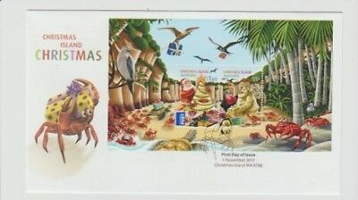 Christmas Island.  2012 Christmas First Day Cover.  Attractive and colourful