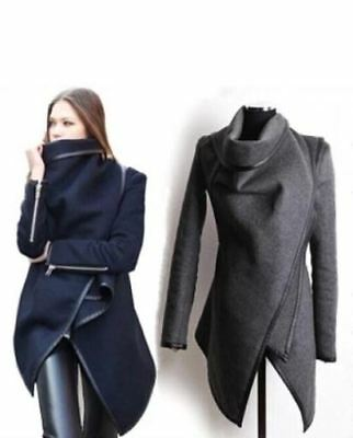 **NEW - Womens Ladies Casual Fashion Coat Outerwear Jacket Slim GREY Small** UK