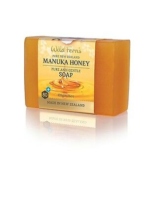 2 x Wild Ferns New Zealand Manuka Honey Pure And Gentle Soap 135gm