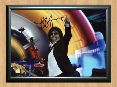 Jeff Lynne ELO Signed Autographed A4 Photo Poster Print Memorabilia cd ticket