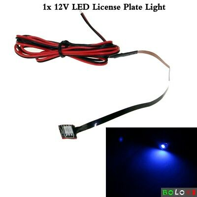 1Pc Blue LED License Number Plate Rear Tag Lamp Waterproof Mini Super Bright New