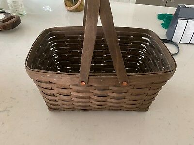 Longaberger Medium Market Basket Rich Brown #6