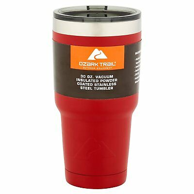 Ozark Trail 30 Oz Double Wall Vacuum Sealed Tumbler Thermos Mug For Hot & Cold