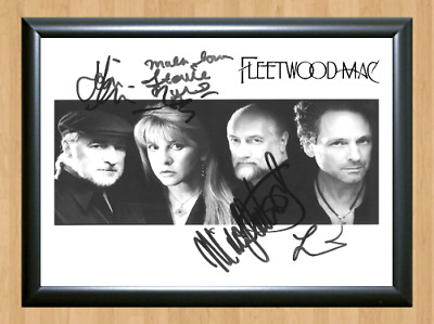 Fleetwood Mac Rumours Signed Autographed A4 Photo Poster Memorabilia ticket cd