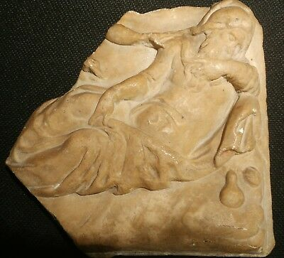 Rare Original Antique 13Th Century Italian Marble Relief Carving
