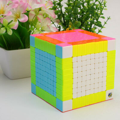 YuXin 10x10x10 Speed Magic Cube Professional Smooth Stickerless Twist Puzzle Toy