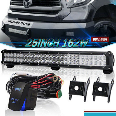 25Inch 162W Led Light Bar Flood Spot Combo Beam For Driving Offroad Ford 4Wd