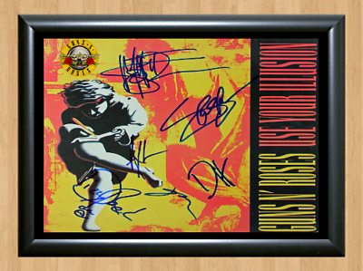 Guns N' Roses Use Your Illusion I Signed Autographed A4 Photo Poster Memorabilia