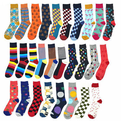 Brand Quality Mens Male Socks 27Colors Striped Plaid Diamond Cherry Socks