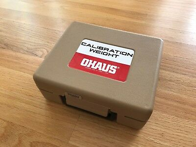 Ohaus 2 kg Stainless Steel Calibration Weight with Case - Excellent condition