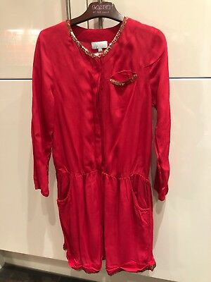 Girls Wild & Gorgeous Age 10/11 Red Playsuit Excellent Condition