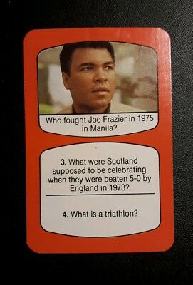 USA - MUHAMMAD ALI  rare vintage Boxing game card