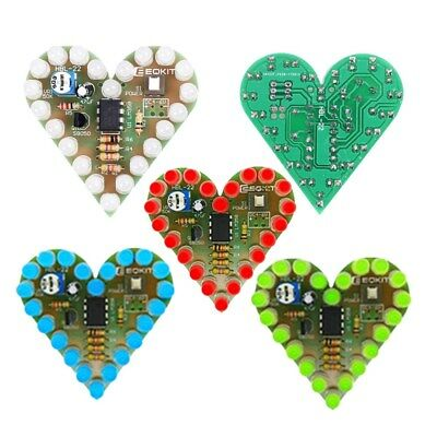 Integrated Circuits Active Components Diy Kit Heart Shape Breathing Lamp Kit Dc 4v-6v Breathing Led Suite Red White Blue Green Diy Electronic Production For Learning