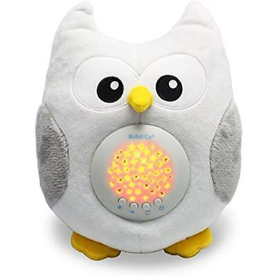 White Sleep Soothers Noise Sound Machine & Aid Night Light. New Baby Gift, Owl