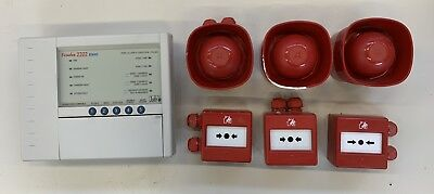 JSB Bi-Wire Firedex 2202 2-Zone Fire Alarm System Panel Sounders Call Points